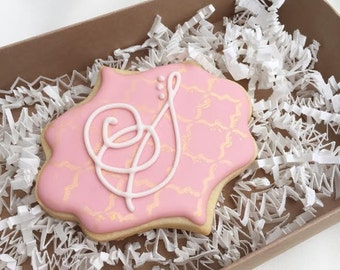 Wedding Monogram Cookie