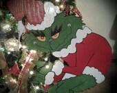 Grinch Creeping Grinch Stealing Christmas Lights Outdoor Wood yard art Lawn Decoration CIJ FAAP