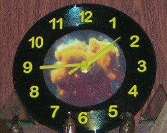 Nebula Vinyl Photo Clock for Desk, Shelf or Wall