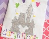 Girls Disney Shirt Cinderella Castle Shirt Disney Vacation Customized Monogrammed Magic Kingdom