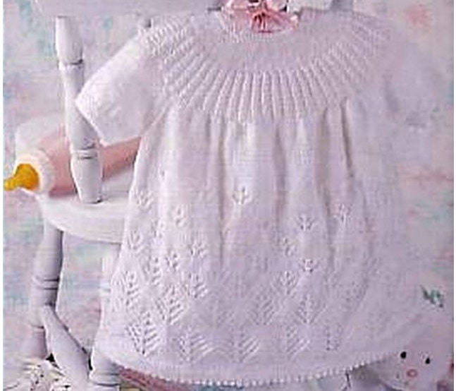 Free Knitting Pattern For Angel Top : Knit Angel Top Vintage Pattern baby dress knitting pullover