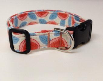 Adjustable Flower Print Dog Collar