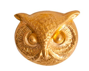 Brass Stamping Owl Face