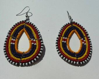 Maasai Beaded Earrings, Kenya