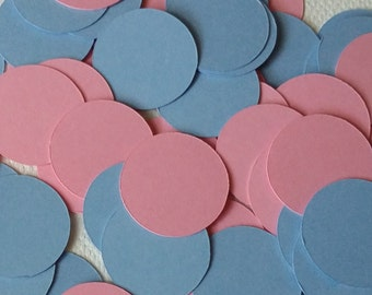 150 piece Pink and Blue Confetti, Baby Shower Confetti, Girl and Boy Confetti, Baby confetti