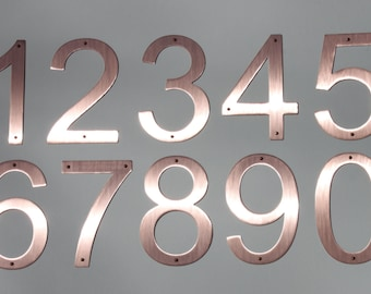 "Majestic MFG Pure Copper House Numbers Raw Copper 5"" & 8"""