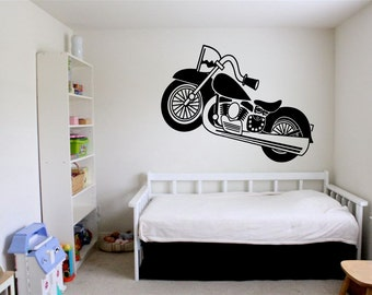 Wall Vinyl Sticker Decals Mural Room Design Pattern Art Chopper Bike Speed Racing bo1670