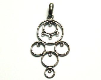Rhodium plated sterling silver pendent finding