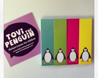 Writable adhesive notes, Post it, Tovi the Penguin