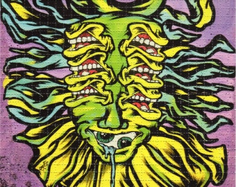 Stay Sphongled by Aaron Brooks BLOTTER ART numbered, limited - ABrooks perforated lsd acid art paper signed Zane Kesey