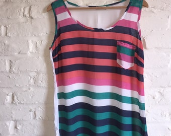 Striped summer vest tunic top
