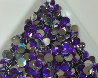 1000 4mm Purple Flatback resin Rhinestones ss16