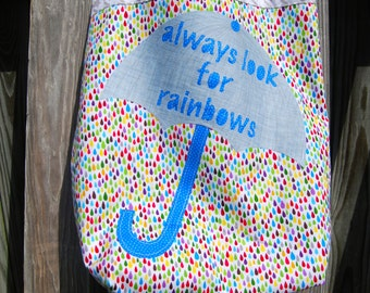Always Look for Rainbows Tote