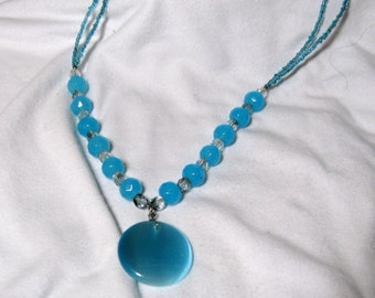 Light Blue and Grey Necklace