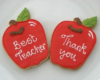 Teacher thank you cookies - set of five