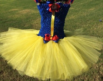 Snow White inspired tutu dress, Halloween tutu costume