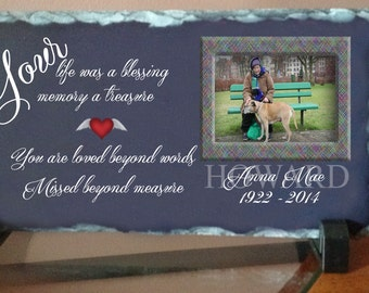 Personalized Memorial Slate Plaque
