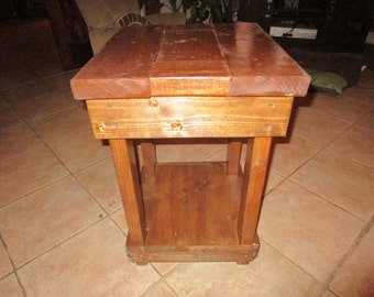Rustic looking End table Small end table small side table small table night stand