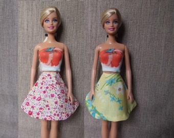 Floral Barbie Skirt/ Barbie Dress/ Barbie Clothes