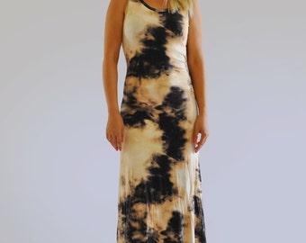 Beige brown summer dress/Woman cotton dress/Handmade dress/Party beige dress/Day dress/Lycra woman dress/Summer beach dress/by Gabyga/D1223