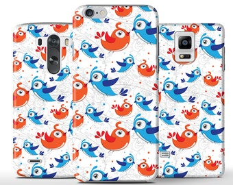 Love Birds Pattern Colorful Blue Hard Case Cover Apple iPhone 5 5s 5c 6 Plus Samsung Galaxy S6 s4 s5 Note 3 4 Sony Xperia Z3 Z1 Z2 Lg G2 G3
