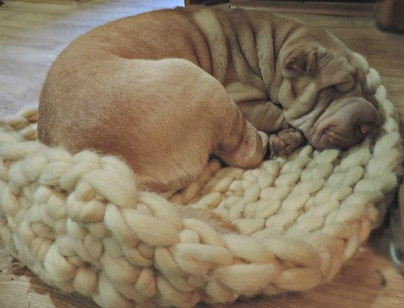 Dog Bed Chunky Dog Bed Wool Dog Bed Dog Mat Large Dog Bet