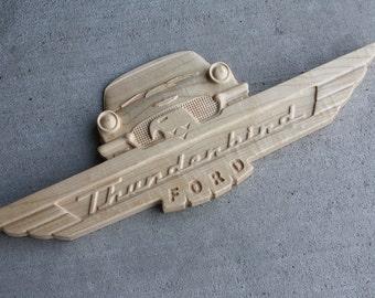 Ford Thunderbird Sign - Maple