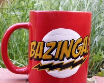 Hand Painted mug inspired by The Big Bang Theory