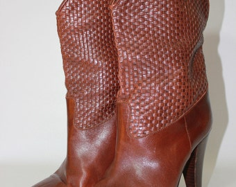 Vintage Woven Boots Made in Spain Size 6