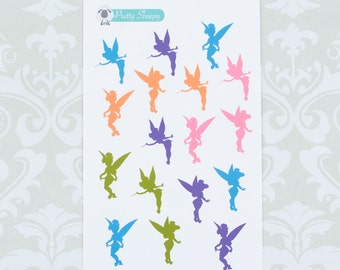 Tinkerbell Silhouette Stickers - Disney Planner Stickers