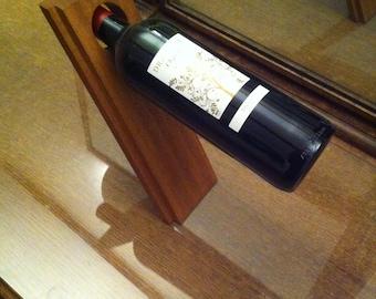 Handmade wooden wine bottle holder