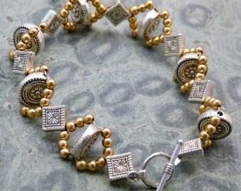 Beaded Rosette Bracelet