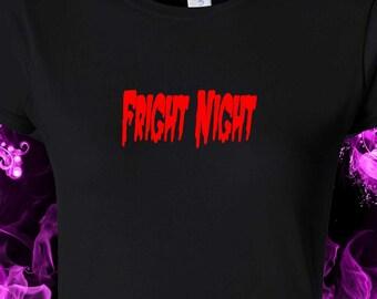 Fright Night - Halloween - Horror  -  black cotton gildan crew neck S-XXL