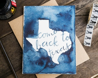 Miss You Card, Come Back To Texas Card, Friendship Card