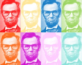 Abe Lincoln Pop Art *INSTANT DOWNLOAD* 8x10 11x14 16x20