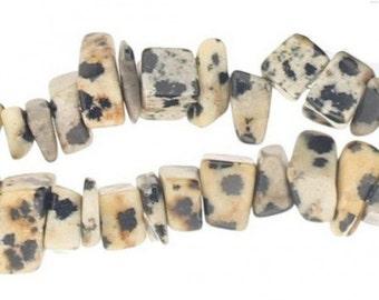 Wire chips beads Jasper Dalmatian - 90cm wire