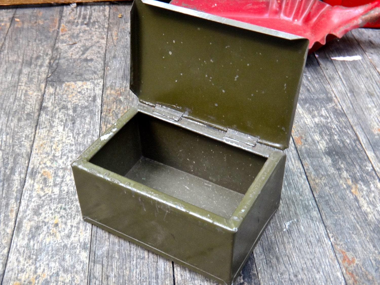Decorative Metal Boxes With Lids : Max maxs uniquities green metal box men keepsake