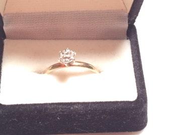 Sabrina -1 10k yellow gold wedding ring with diamond