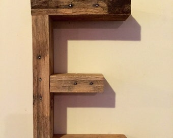 Rustic Reclaimed Wood Letters - 3D Letters