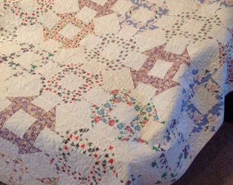 Monkey Wrench Feed Sack Quilt