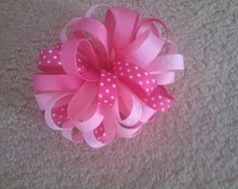 Pink Medley Poofy Hair Bow