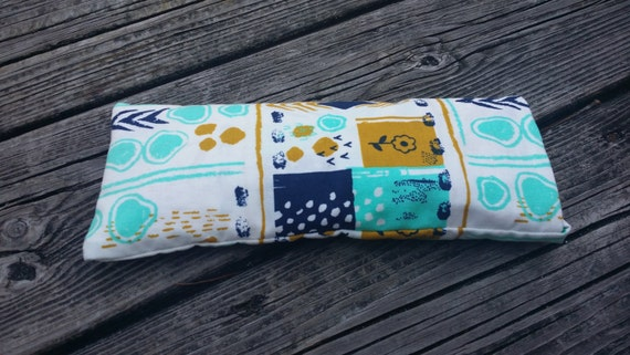 Yoga Eye Pillow / Relaxing Eye Pillow with Tribal Print cover / yoga accessories / meditation pillow/ yoga gift/ Sensory Tool