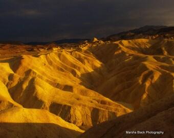 """Death Valley Photography, """"Zabriskie Point Death Valley"""" Print, Desert Decor, Desert Wall Art, Zabriskie Point Print, Desert Note Cards"""
