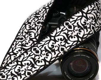 Black and White Camera Strap. DSLR SLR Camera Strap. Camera Strap. Camera Accessories