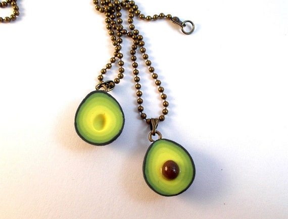bff avocado friendship necklaces food jewelry food by