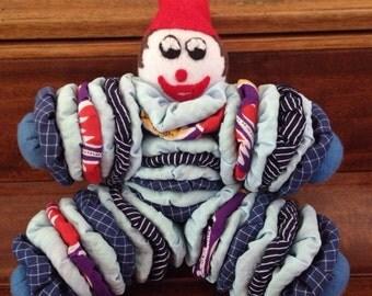Clown yo-yo doll, plushie, stuffed clown, stretchy toy