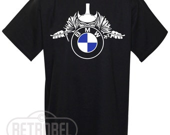 Mens T-shirt BMW motorcycles, Black, Cafe Racer, Classic Vintage Motorcycle, 100% Cotton, Graphic Tee,