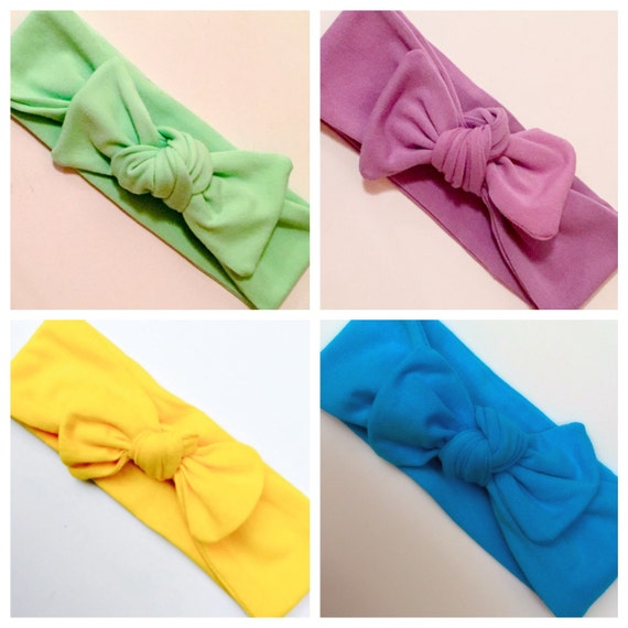 GRAB BAG/4 Top Knot Headwraps/ Summer Accessories/ Knotted Headbands