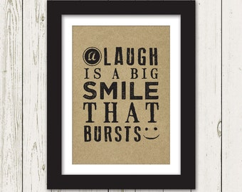 A Smile that Bursts Art Print