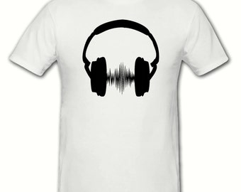 Headphones DJ t shirt,mens t shirt sizes small- 2xl, gift,dad gift.